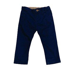 ZARA calça algodão marinho 12-18 meses