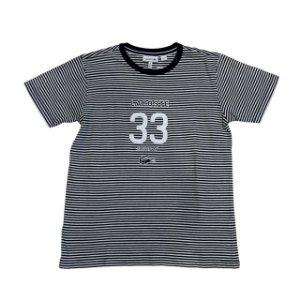 LACOSTE camiseta listras pretas e brancas 12 anos  estp 33