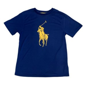 RALPH LAUREN camiseta azul Jersey 10-12 anos