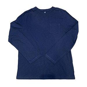 GAP KIDS camiseta mg longa marinho L 10-12 anos
