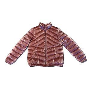 ZARA casaco acolchoado puffy rosa metalizado 10 anos