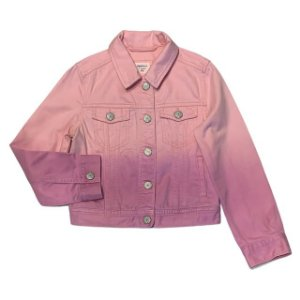 GAP KIDS jaqueta jeans rosa degradê S 6-7 anos