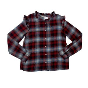 H&M blusa viscose xadrez 8-9 anos