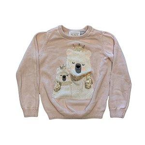 THE CHILDRENS PLACE casaco linha rosa claro urso polar 3 anos