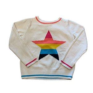 BABY GAP casaco linha offwhite estrela arco íris 4 anos