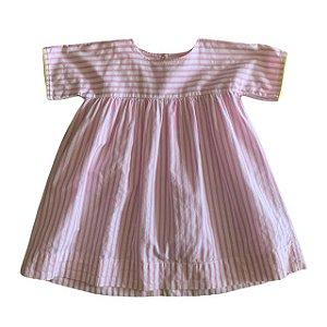PÉTIT BATEAU vestido listras rosa 24 meses