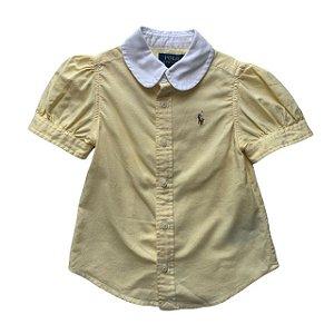 RALPH LAUREN camisa social oxford amarela feminina 2 anos