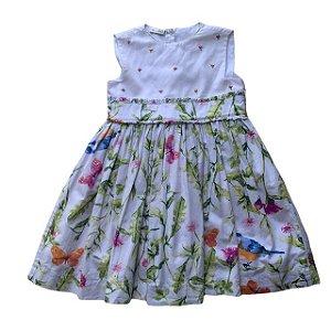 UPIÁ vestido algodão florido pala gorgorão bordado 1 ano
