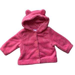 GYMBOREE casaco soft rosa capuz orelhas 3-6 meses