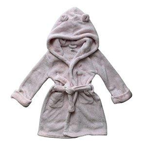 BABY GAP roupão c capuz soft rosa 2 anos