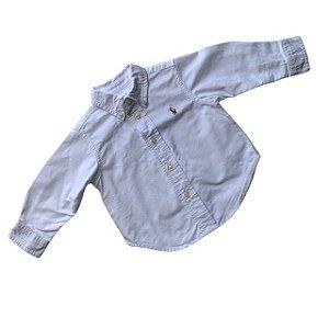 RALPH LAUREN camisa social oxford branca 12 meses
