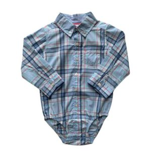 CARTERS pimpao camisa social xadrez azul 18 meses