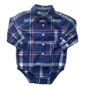 OSHKOSH pimpao camisa social xadrez marinho 18 meses