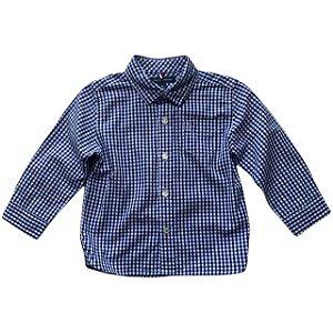 TOMMY HILFIGER camisa social xadrez marinho 18 meses