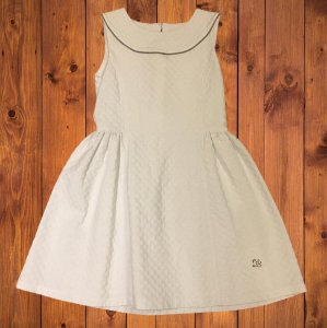 LION OF PORCHES vestido algodão branco 7-8 anos
