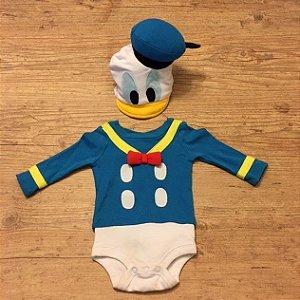 DISNEY body do pato Donald c chapéu 0-3 meses