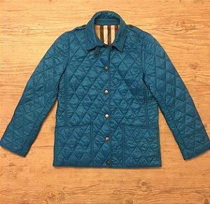 BURBERRY casaco matelassê azul 10 anos (manga esquerda um pouco desbotada)