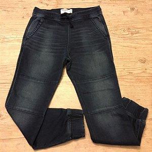 ABERCROMBIE calça jeans elástico cintura e perna 11-12 anos