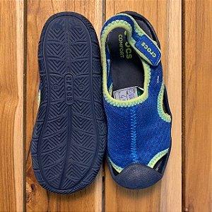 CROCS sandália neoprene azul USA 13 BRA 30