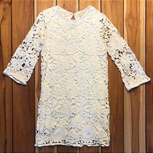ZARA vestido algodão renda 6 anos