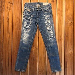 DIESEL calça jeans destroyed 8 anos
