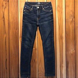 SEVEN calça jeans escuro skiny 8 anos marcas de uso