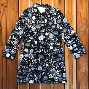 GUCCI trench coat brim azul est flores 6 anos