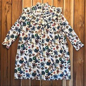 MIXED vestido algodão estp frutas 8 anos