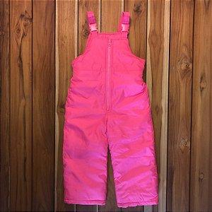CARTERS jardineira ski pink 4 anos