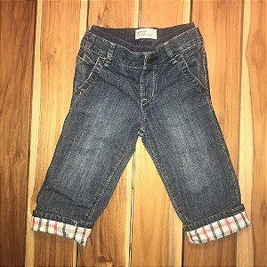 BABY GAP calça jeans det xadrez Barra 6-12 meses