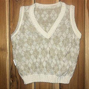FOFINHO colete de lã bege 12-24 meses
