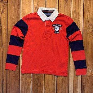 TOMMY HILFIGER camisa polo mg longa vermelha 6-7 anos