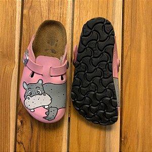 BIRKENSTOK tamanco rosa hipopótamo USA8,5 BRA 24