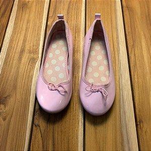 H&M sapatilha verniz rosa USA12 BRA 29