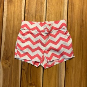 JANIE AND JACK short rosa e branco 3-6 meses
