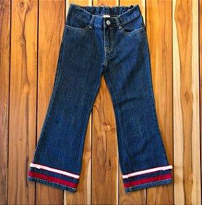 GYMBOREE calça jeans fita na barra 6 anos