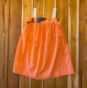 FÁBULA vestido laranja borboleta 4 anos