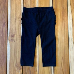 FIRST IMPRESSION legging preta c babados bumbum 12 meses
