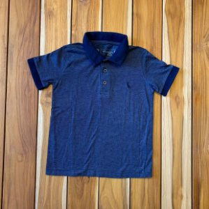 RESERVA MINI camisa polo azul listras finas 4 anos