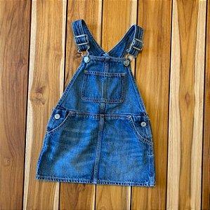 BABY GAP jardineira saia jeans 18-24 meses