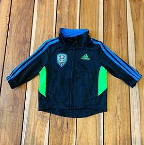 ADIDAS casaco gym preto azul e verde 3 meses