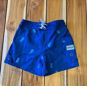 OSHKOSH short praia azul abacaxi 12 meses