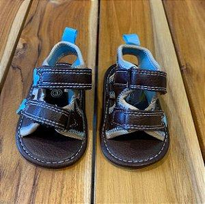 STEPPING STONE sandália de courino marrom USA3 BRA17