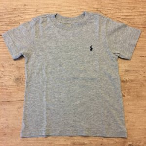 RALPH LAUREN camiseta lisa cinza 2 anos