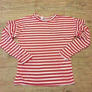 H&M camiseta listras vermelhas 6-8 anos