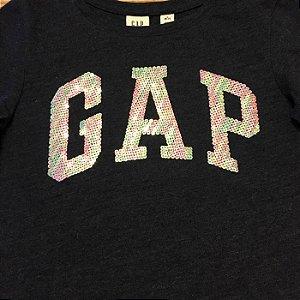 GAP KIDS camiseta cinza GAP lantejoulas 6-7 anos