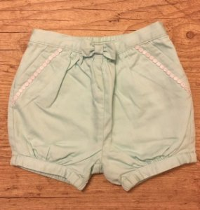 JANIE AND JACK short verde claro 12-18 meses