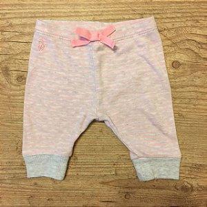 RALPH LAUREN calça de malha cinza listras rosa 3 meses
