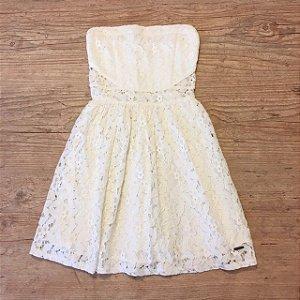 ABERCROMBIE vestido malha renda of white 10 anos