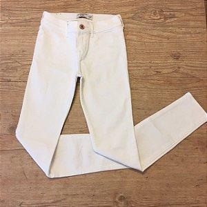 ABERCROMBIE calça skiny branca 9-10 anos